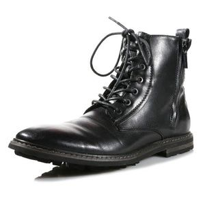 Robert Wayne Thatcher Mens Black Leather  Lace Up